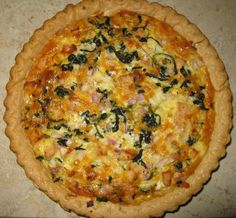 Chicken and Spinach Quiche from Food.com:   A filling, hearty quiche. I usually make this for supper but would be good for breakfast, brunch, or lunch.