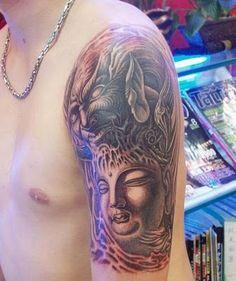 Dragon and #Buddha #tattoo