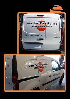 Na een aantal andere leuke andere opdrachten van van der Pols Pernis, mocht Screen Promotion ook de belettering op de bedrijfswagens verzorgen.