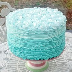 Mint Fake Ruffle and Rosette Cake Photo Prop Classic Home and Kitchen Decor #FakeCupcakeCreations