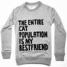 Cat Population Sweatshirt Unisex