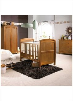 Izziwotnot Tranquillity Cot Bed in Oak - it displays an opulent charm; an attractive cot bed with sophisticated styling it converts effortlessly from a cot to toddler bed, ensuring the bed grows with your little one. Oak Wardrobe, Wardrobe Furniture, Cot Bedding, Baby Supplies, Nursery Furniture, Room Set, Online Furniture, Bassinet, Baby Room