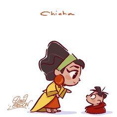 Chibi Chicha- The Emperor's New Groove, 2000 Disney Pixar, Walt Disney Animation, Arte Disney, Disney Fan Art, Disney Films, Disney And Dreamworks, Disney Cartoons, Disney Magic, Disney Characters