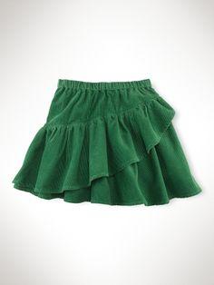 Pull-On Ruffle Corduroy Skirt - Girls 7-16 Scooters & Skirts - RalphLauren.com