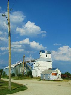 Latimer, Kansas     I used to ride in our wheat truck to this grain elevator!
