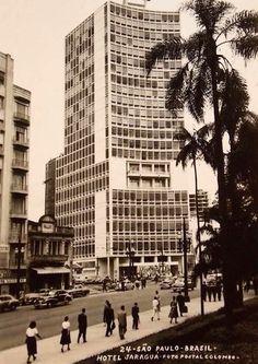Hotel Jaraguá na esquina da rua da Consolação com rua Martins Fontes, no centro da cidade.