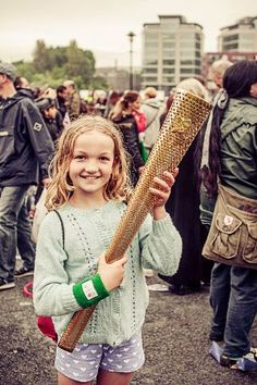 My daughter with the Olympic Torch
