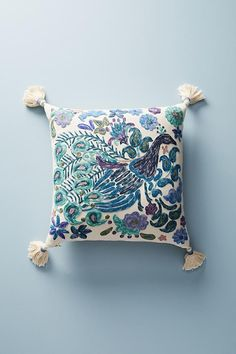 Anthropologie Melika Embroidered Peacock Accent Pillow (Nordstrom Exclusive Color – how to choose accent pillow Floral Bedding, Boho Bedding, Floral Pillows, Colorful Pillows, Diy Pillows, Accent Pillows, Decorative Throw Pillows, Neutral Bedding, Anthropologie Pillows