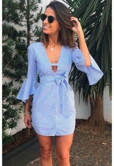 Para hacer vestido de chambray >>> Kleider >>> Para hacer vestido de chambray >>> Kleider >>> appeared first on Kleider Sommer. Cute Dresses, Casual Dresses, Casual Outfits, Cute Outfits, Fashion Outfits, Summer Dresses, Womens Fashion, Dress Fashion, Dresses Dresses