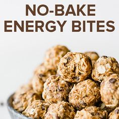 Healthy and delicious No-Bake Energy Bites! Perfect meal prep recipe.