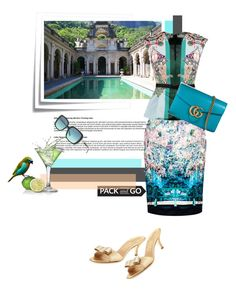 """""""...off to Rio"""" by theitalianglam ❤ liked on Polyvore featuring Post-It, Mary Katrantzou, Gucci, Salvatore Ferragamo, Tiffany & Co., women's clothing, women's fashion, women, female and woman"""