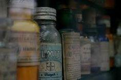 vintage medicine bottles - apothecary