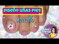 Decoración para uñas pies/Diseño para uñas pies sencillas y elegantes - YouTube