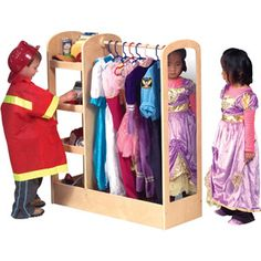 I love this for the playroom.  Our hooks now for dress up clothes are too high for the kids to get to.