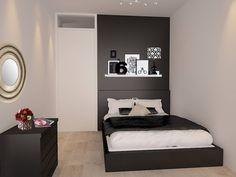 Master bedroom in black : Moderne slaapkamers van Levenssfeer Student Room, Modern Industrial, Master Bedroom, Sweet Home, House Design, Interior Design, Furniture, Inspireren, Home Decor