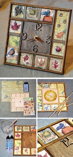 How to makу wall clock decor. Click on image to see step-by-step tutorial