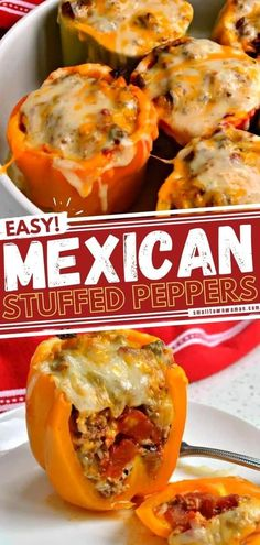Learn how to make this easy Mexican Stuffed Green Peppers recipe! Filed with seasoned beef, onions, garlic, tomatoes, rice, and topped with cheeses, this fun, festive dinner is sure to become a favorite on your menu. Check out how you can serve up this Cinco de Mayo food! Mexican Food Recipes, Beef Recipes, Salad Recipes, Dinner Recipes, Cooking Recipes, Ethnic Recipes, Mexican Dishes, Mexican Stuffed Peppers, Stuffed Green Peppers