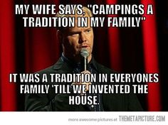 funny camping quote joke