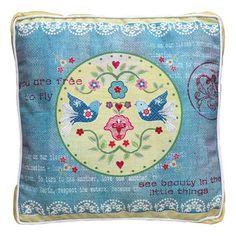 Vintage Primavera Cushion with Love Birds, $38 !!