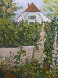 Hermann Hesse painting of his house and garden in Gaienhofen, Germany...♔..