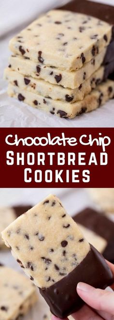 Chocolate Chip Shortbread Cookies are all the goodness of melt-in-your-mouth shortbread combined with a little bit of chocolate. Your family will love these easy tasty cookies!