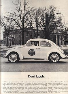 1966 ad that is now coming true. | All The Great Mad Men Era Volkswagen Ads