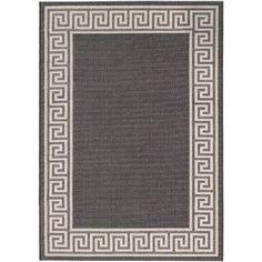 ECARPETGALLERY Knossos Casual Black Area Rug Rug Size: