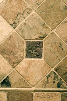 Tile Decorative Inserts Black Matte Floor Tile  Slavaged Antique Tile  Pinterest