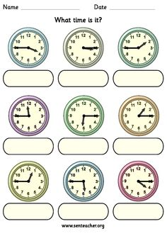 Worksheet containing 9 analogue clocks showing quarter to and quarter past times with space to write in the answer in either analogue or digital time.