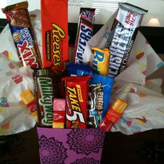 Candy bar bouquet. I put it together as a prize gift at my baby shower