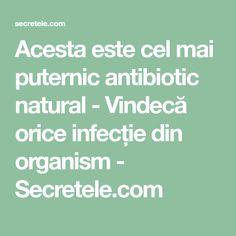 Acesta este cel mai puternic antibiotic natural - Vindecă orice infecție din organism - Secretele.com Orice, Mai, Health, Alternative, Health Care, Salud