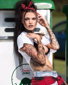 Tattoo model Courtney Brown