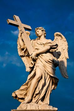 Angel with the Cross The bridge was built in about 133 to link the mausoleum of Hadrian to the left bank of the Tiber, but very little remains of the original structure. The Pope Clemens VII Medici in 1534 put the statues of Saint Peter and Saint Paul on the side opposite Castel Sant'Angelo. In the 17th century the structure became one of the best examples of the Roman baroque with the collocation of statues of angels and symbols of the Passion, designed by Bernini.