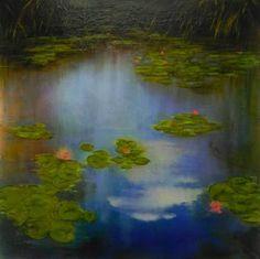 "Saatchi Art Artist louise fairchild; Painting, ""Summer Cloud's Reflection"" #art"