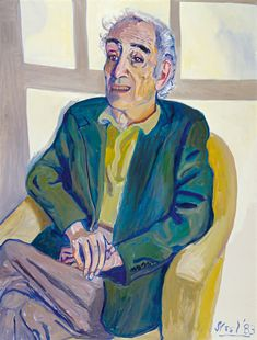 Meyer Shapiro (1983) by Alice Neel (1900-1984) - her portraits are rarely serene but always memorable (says Claire Messud - NYbooks)