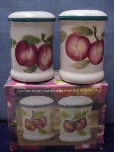 Hand Painted Earthenware Salt & Pepper Set by CIB. $9.45. Hand painted earthenware. Salt & Pepper shakers