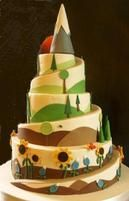 Beautiful custom wedding cakes, anniversary cakes from rustic to whimsical, modern & classic. Wedding cake ideas, design inspiration from Portland OR Bakery Pretty Cakes, Beautiful Cakes, Amazing Cakes, Cake Cookies, Cupcake Cakes, Cake Fondant, Cupcakes, Mountain Cake, Mountain Hiking