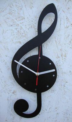 Zegar ścienny Violin, klucz Wiolinowy, Idealny dla muzyków :) i nie tylko. Muzycznie będzie umilał płynący czas :)