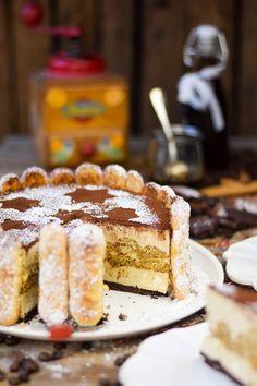 Tiramisu Cheesecake Charlotte& Kaffeesirup- und Likör | Das Knusperstübchen