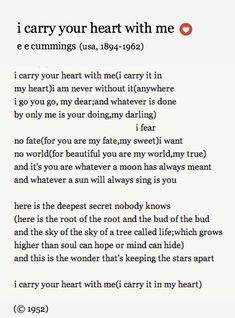 Trendy Wedding Quotes And Sayings Poems Ee Cummings Ideas The Words, Cool Words, Pretty Words, Beautiful Words, Beautiful Things, Ernst Hemingway, Wedding Quotes, Wedding Vows, Wedding Anniversary