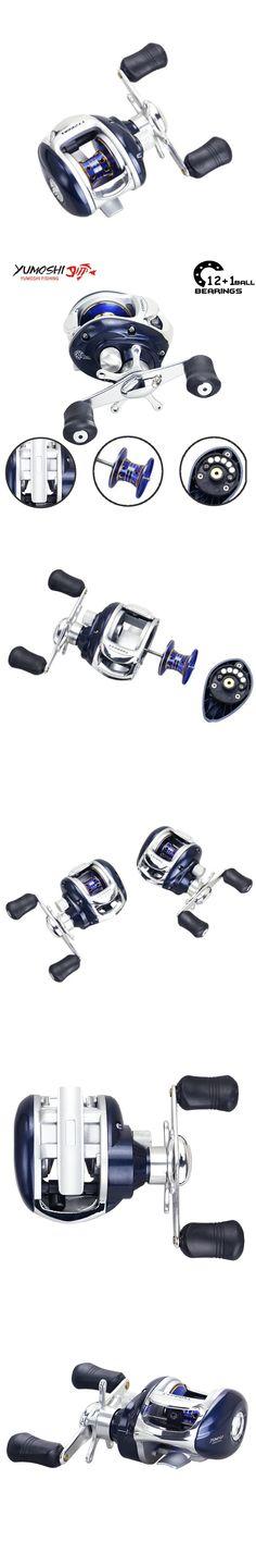 Yumoshi 6.3:1 12+1BB Right Left Baitcasting Reel low profile Fishing Reels Centrifugal Dual Brake Bait casting Reels Carretilha