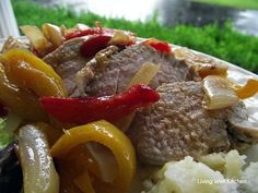 Pork Tenderloin with Vegetable Sauce recipe   one-pan meal with lots of veggies & a good source of lean protein.