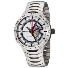Momo Design Men's 'Master Racer' Silver GMT Dial Titanium Watch   Overstock.com Shopping - The Best Deals on More Brands