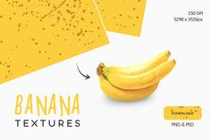 Textures of ripe and sweet bananas. The brown dots on a banana represent the level of sugar they contain. I did few textures of these sweet bananas, great for Dot Texture, Texture Design, Vector Design, Graphic Design, Design Projects, Bananas, Presentation, Dots, Fruit