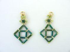FREE beading pattern for Bugle Diamond Earrings