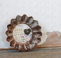 Repurposed Vintage Tart Tin Magnet