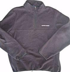 #LandsEnd Men's Black Fleece Pullover #FanningHowey #Menswear