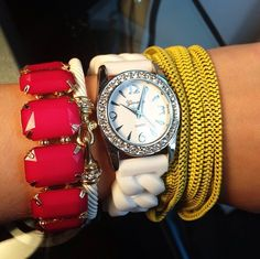 Pink and yellow wrist-party #CCStyle