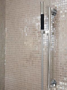 Another Beautiful Bathroom Grab Bar Disguised As A Corner Shelf - Brushed nickel grab bars for bathrooms for bathroom decor ideas