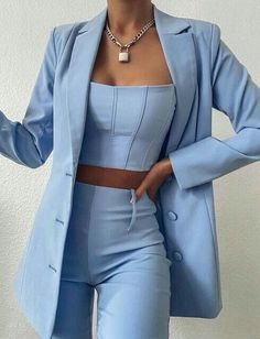 Teen Fashion Outfits, Mode Outfits, Suit Fashion, Look Fashion, Co Ords Outfits, Fashion Dresses, Prom Outfits, Travel Outfits, High Fashion